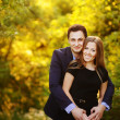 Young romantic couple outside bonding — Stockfoto #25491515