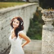 Young brunette bride — Stock Photo