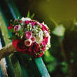 Stock Photo: Wedding bouquet with peonies