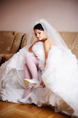 Bride is getting ready — Stockfoto