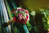 Wedding bouquet with peonies — Stock Photo