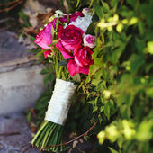 Bridal bouquet made of peonies — Stock Photo