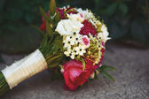 Bouquet made of peonies and freesia — Stock Photo
