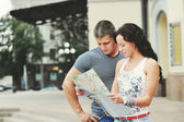 Young couple tourists — Stock Photo