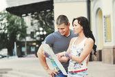観光客のカップル — ストック写真