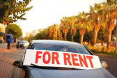 Car for rent in the street — Stock Photo