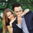 Young sweet couple outside — Stockfoto #31169051