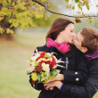 Sweet couple in love having date — Stock Photo #31582423