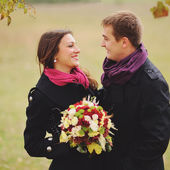 Sweet couple in love having date — Stock Photo