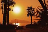 Sunset over — Stock Photo