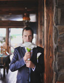 Young caucasian groom — Stock Photo