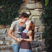 Teen couple together — Stock Photo