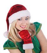 Beautiful sexy santa girl. — Stock Photo
