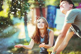 Teenage girl having fun outside. — Stock Photo