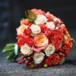 Bridal bouquet of various flowers. — Stock Photo #33146581