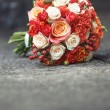 Bridal bouquet of various flowers. — Stock fotografie