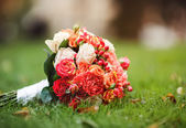 Bridal bouquet of various flowers. — Stock Photo