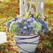Wedding decoration in garden. — Foto de Stock