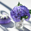 Wedding decoration on table. — Foto de Stock