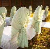 Ceremony in beautiful autumn garden — Stock Photo