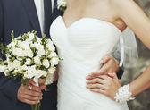 Groom and bride together. — Stock Photo