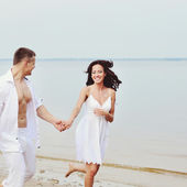 Portrait of a young couple together — Stock Photo