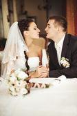 Couple de mariage ensemble — Photo