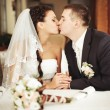 Wedding couple together — Stockfoto