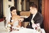 Svatební pár dohromady — Stock fotografie