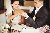 Wedding couple together — Stock Photo