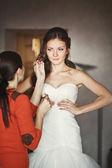Young caucasian bride — Stock Photo