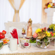 Stock Photo: Wedding banquet in restaurant, served table