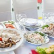 Wedding banquet in a restaurant, served table — Stock Photo