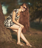 Cute red hair teenage girl — Photo