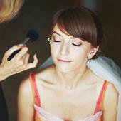 Braut Hochzeit Make-up haben — Stockfoto