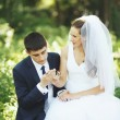 Newlywed couple together. — Foto Stock