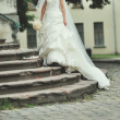 Stock Photo: Beautiful wedding dress
