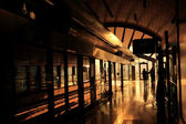 Subway station in Dubai, color of sunset — Stockfoto