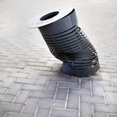 Dustbin at street, trash — Stockfoto