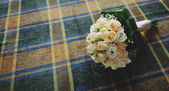 Bouquet on table — Stock Photo
