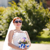 Red hair bride — Stockfoto