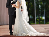 Groom and bride together. — Foto Stock