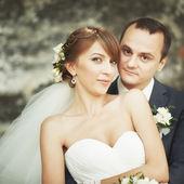 Pareja joven. novio y la novia junto. — Foto de Stock