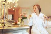 Bride getting ready — Stock Photo