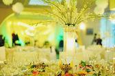 Shiny wedding banquet in restaurant — Stock Photo