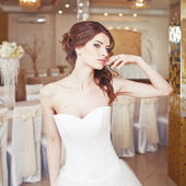 Charming young bride, wedding picture. — Stok fotoğraf