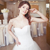 Charming young bride, wedding picture. — Stock Photo