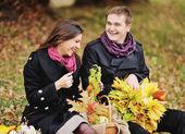 Young heterosexual couple having date. — Stock Photo