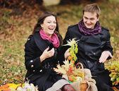 Young heterosexual couple having date. — Foto de Stock
