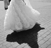 Young caucasian bride on wedding da — Stock Photo